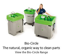 Bio-Circle. The natural, organic way to clean parts.